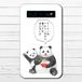 #074-004 モバイルバッテリー 悪いこと言うパンダ かわいい 動物 おもしろい iphone スマホ 充電器 タイトル:ラーメンについて悪いこと言うパンダ 子パンダ付き 作:こさつね