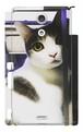 スマホケース Xperia A 振り向き猫