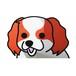 キャバリアブレインハム(小) 犬ステッカー