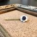 貝ボタンと天然石のヘアピン(アメジスト)