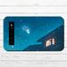 #068-008 モバイルバッテリー 夜空 おしゃれ かわいい 雪 ファンタジー iphone スマホ 充電器 タイトル:初雪 作:アスマル