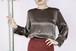 YSL rive gauche brown blouse