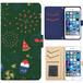 Jenny Desse Galaxy S7 edge SCV33 ケース 手帳型 カバー スタンド機能 カードホルダー グリーン(ブルーバック)