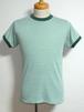 1970's Collegiate Pacific 無地リンガーTシャツ 霜降りグリーン 表記(M)