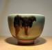 竹西予州作 飛青磁茶碗 共箱付/Art Selection【1点もの】【送料無料】
