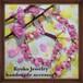 桃の花マクラメ編みブレスレット