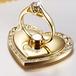 ゴールド ハート型 ハート型 バンカーリング_  スマホiPhone スタンド