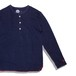 [ feel so easy good things for relaxing ] Organic Cotton Ripple Henley (OR-002)