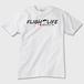 Flightlife ロゴ:Tシャツ 白(前面)トナー