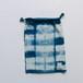 INDIGO 巾着Mサイズ 絞り染め NO.8