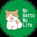 オリジナルステッカー 「No Gatto No Life」