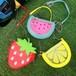 フルーツ 透明 ショルダーバッグ 鞄 カバン 斜めがけ バッグ クリアバッグ ビニール 果物 キッズ 子供 苺 スイカ レモン 夏 860416