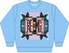 FLOWER PATTERNS SWEAT-Light Blue-