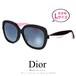 Dior サングラス レディース Lサイズ diorenvolf lwrhd アジアンフィット ディオール Christian Dior lwr クリスチャンディオール ビッグフレーム 大きめ 大きい スクエア バタフライ型 ブラック