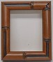 額縁アンティークおしゃれフレーム茶10-6560/額縁寸法100mm×80mm/窓枠寸法88mm×68mm  2mmアクリル/裏板付/壁掛け用/