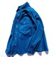 1990's [FIVE BROTHER] モールスキンシャツ ターコイズブルー 表記(L) ファイブブラザー