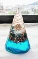 八角錐オルゴナイト(ブルー)