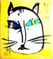榊原匡章 神宿るアート 頑張り猫(色紙サイズ)