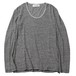 U-NECK L/S - BODY GARD COLLABORATION (BLACK/OFF-WHT) / RUDE GALLERY