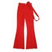 STRAP FLARE PANTS / RED