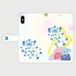 【M】紫陽花とカエル/手帳型スマホケースiPhone5/5s/6/6s/7/SE/X/XS/、AndroidMサイズ