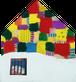 壁掛け時計「雪の下の家」