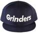 GRINDERS  logo snap back CAP (navy)