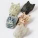 信楽陶器のブローチ 猫