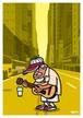 《山本周司 イラストポストカード》CY-11/ ギターを弾く男