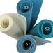 フェルト 大人のブルー 4色セット : 100%ウールフェルト 20X30cm 1mm