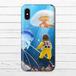 #080-004 iPhoneケース スマホケース iPhoneXS/X おしゃれ 海 Xperia iPhone5/6/6s/7/8 かわいい クラゲ GALAXY ARROWS AQUOS タイトル:くらげの海 作:星宮あき