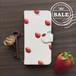 SALE:iPhoneX1点のみ即発送可能:帯付き手帳型スマホケースカバー「いちご」