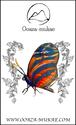 ブローチ - Papillon bleu