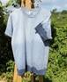 草木染、ベンガラ藍染め、綿Tシャツ 男性用Lサイズ