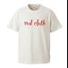 red clothロゴ & バックワンポイント / バニラホワイト