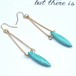 Turquoise Drop Hook pierce
