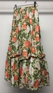 1980s YVES SAINT LAURENT GATHERED FLORAL MAXI SKIRT