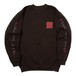 FUGAZI SWEAT CREW (BROWN)[TH8A-031]
