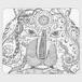 手帳型(帯なし)サイズ(M):kazue.M_005(視線)