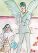 ブログ守護天使♪ B5判サイズ額入り送料込み*原画&データ