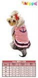 犬服(ドッグウェア) Klippo Cute Stripy Sailor Shirt with Ruffles マリン風ワンピース