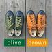 2色展開【スニーカー】SHOES LIKE POTTERY ローカット《Olive & Brown》