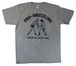 【M~XL】『キャッチ』 イラストTシャツ(前後プリントあり) 杢グレー