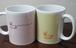 マグカップ 2個セット(ピンク&クリーム)