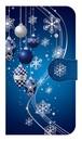 【鏡付き Sサイズ】 Winter Holiday Royal Blue ウィンター・ホリデー ロイヤルブルー 手帳型スマホケース