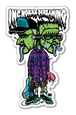 """TWINHEAD FRANK"" sticker"