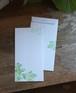 封筒 緑「光あふれて」