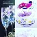 【紫陽花】5月の花 アジサイあじさい絵付けシャンパングラス1個/父の日ギフト・古希祝い・誕生日プレゼント