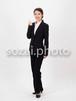 人物写真素材(rin-4187461/女性/スーツ/ガッツポーズ/全身)