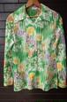 70's Flower Pattern see-strough shirt blouse 70年代 花柄 シースルー シャツ ブラウス